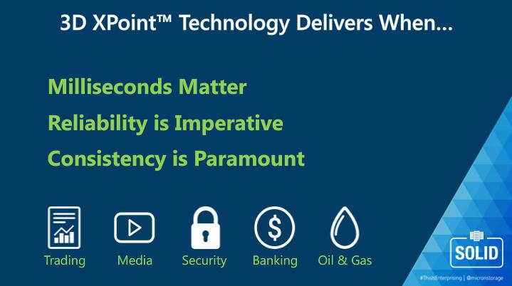 Micron 3D XPoint Key Points