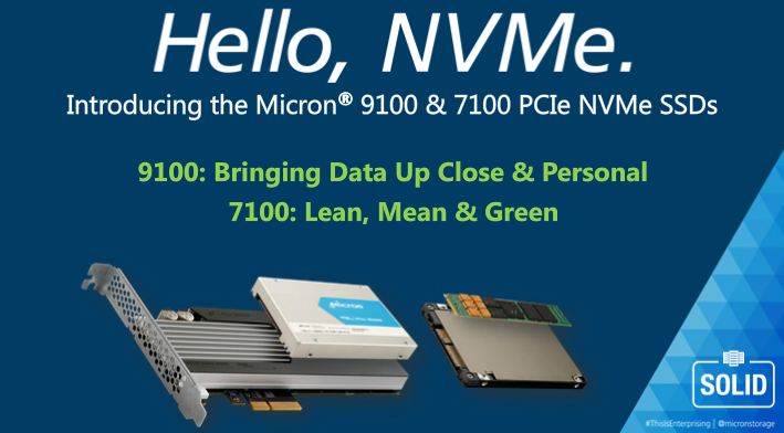 Micron 9100 and 7100 PCIe NVMe SSDs
