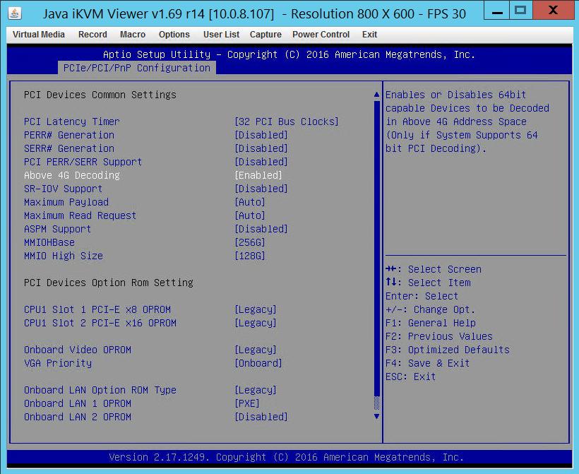 NVIDIA GRID M40 GPU - BIOS settings for 16GB GPU - ServeTheHome