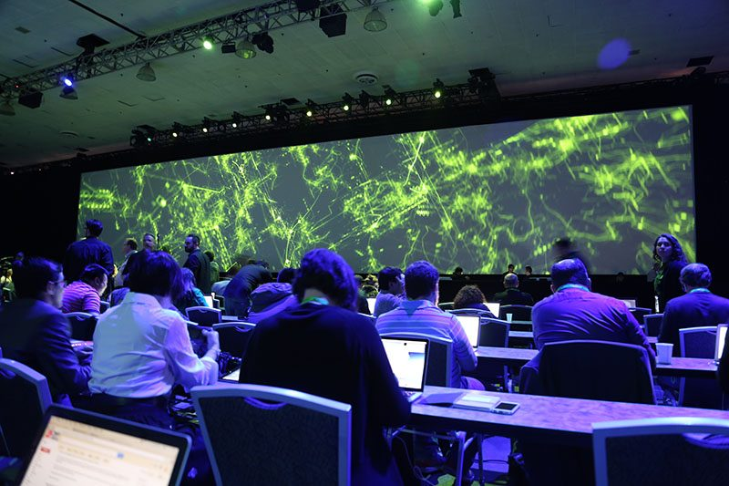 Setting up for GTC 2016 Keynote