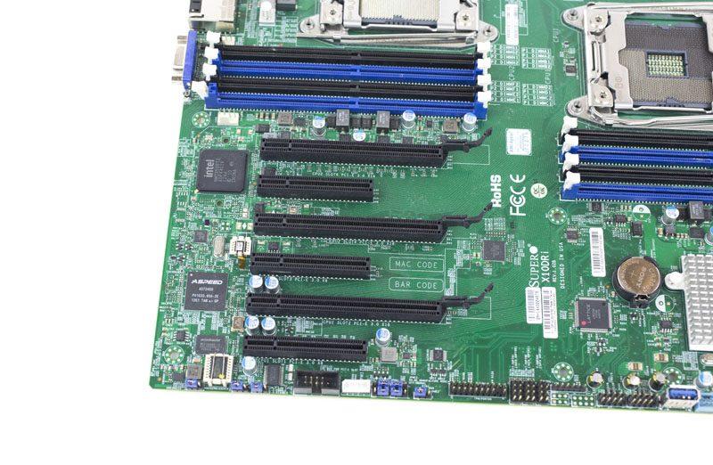 Supermicro X10DRI PCIe Slots