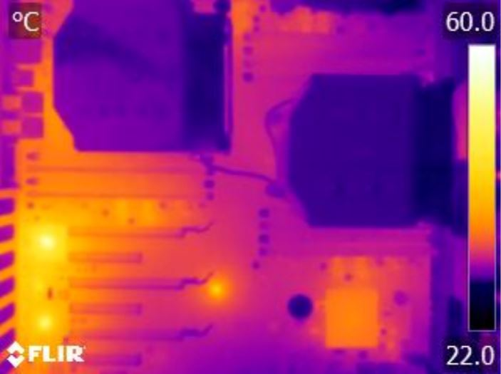 Supermicro X10DRI Thermal Imaging