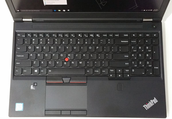 Lenovo ThinkPad P50 - Top
