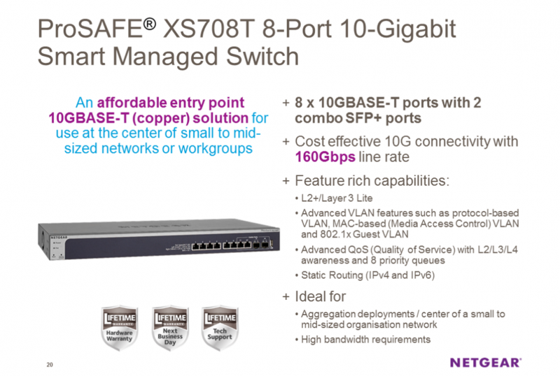 Netgear ProSAFE XS708T
