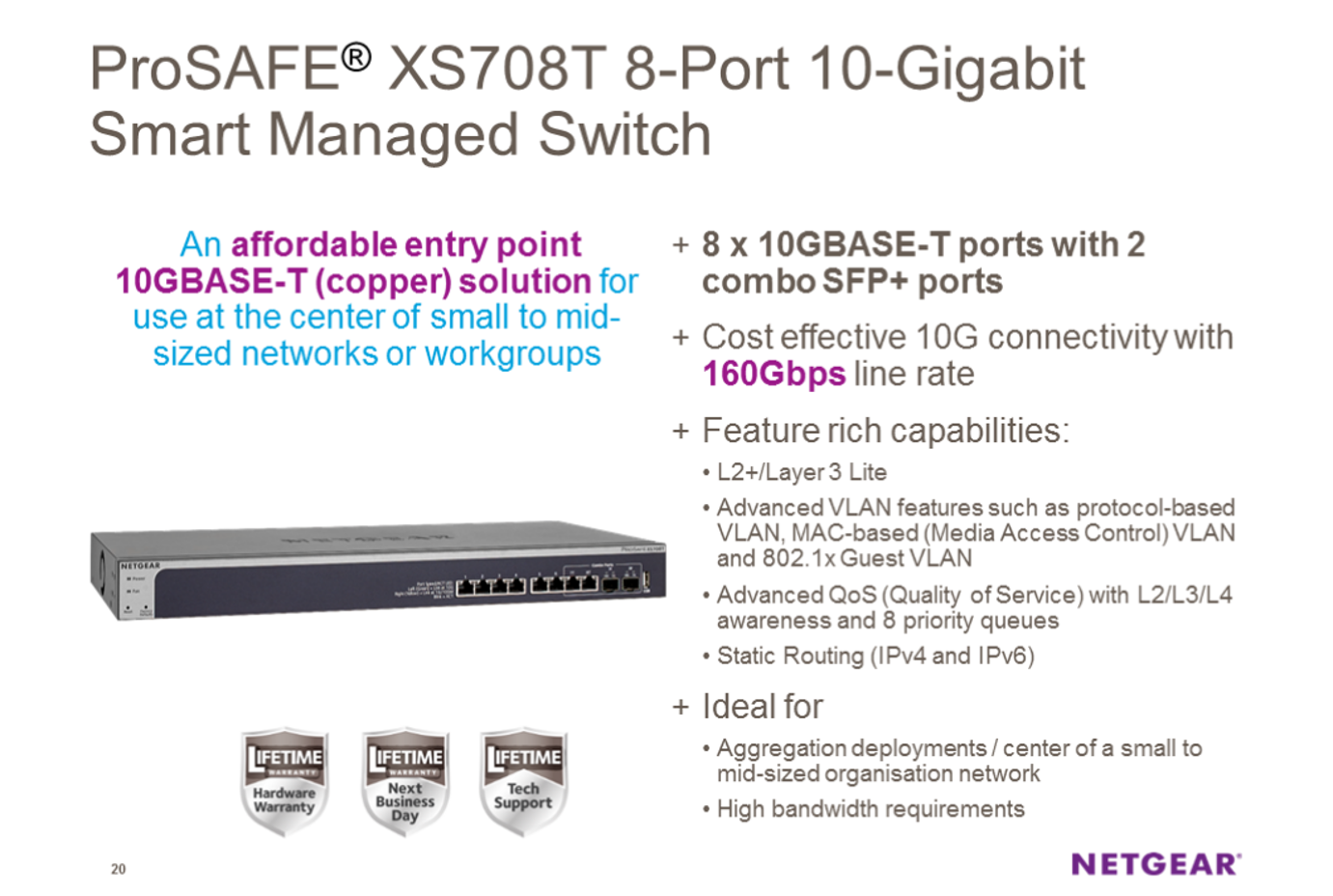 NETGEAR XS748T Switch Drivers for Windows