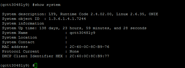 QCT T3048-LY9 Uptime May 2016