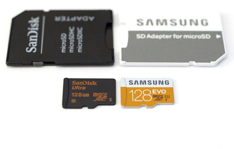 SanDisk Ultra v Samsung EVO 128GB microSDXC