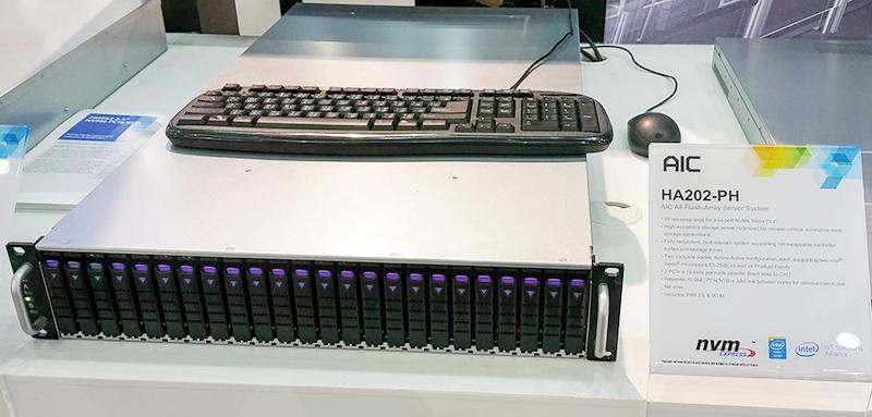 AIC HA202-PH 24 bay dual port NVMe System
