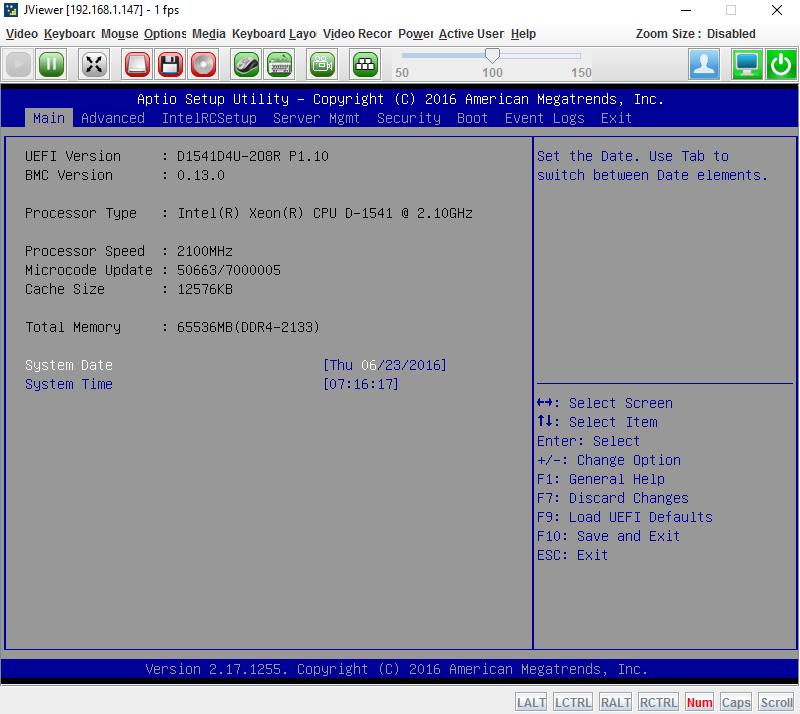 ASRock Rack D1541D4U-2O8R IPMI BIOS