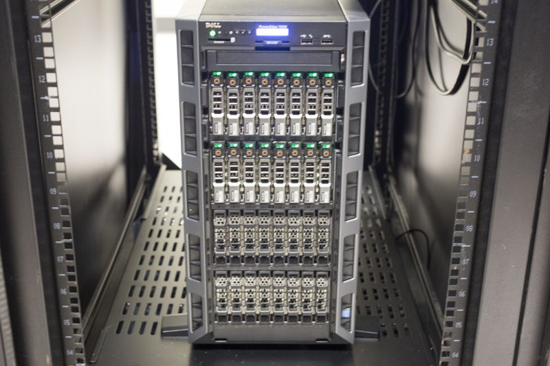 Dell PowerEdge T630 front in rack