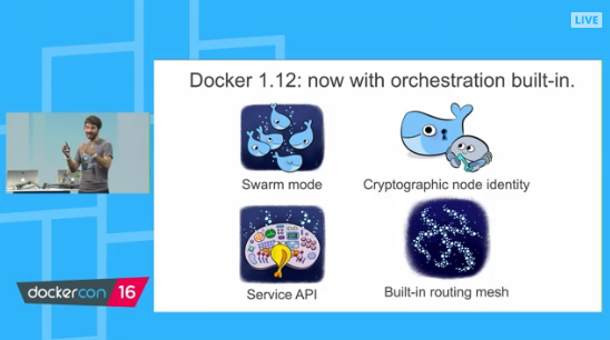 Docker 1.12 Orchestration - four features