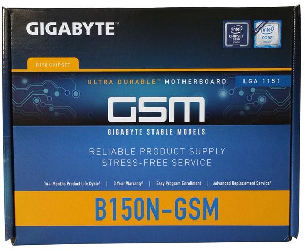 Gigabyte GA-B150N-GSM - Box Front
