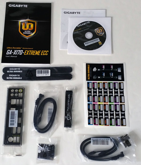 Gigabyte X170 Extreme ECC - Accessories