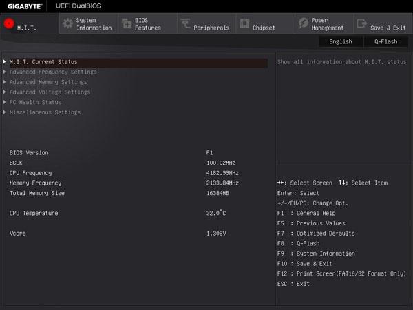Gigabyte X170 Extreme ECC - BIOS M.I.T.