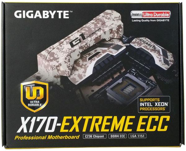 Gigabyte X170 Extreme ECC - Retail Box Front