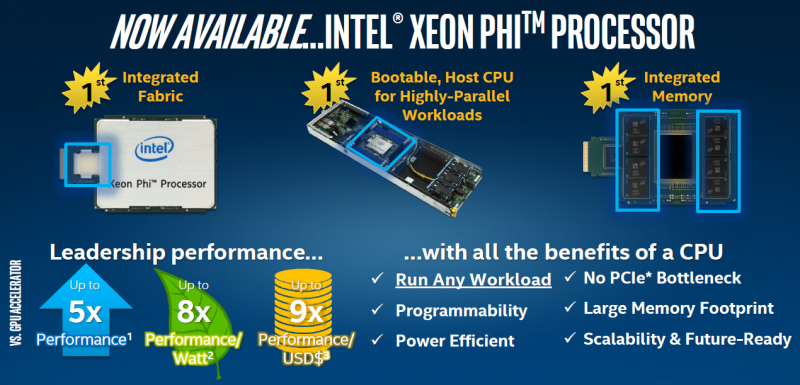 Intel ISC 2016 KNL Knights Landing Available Now