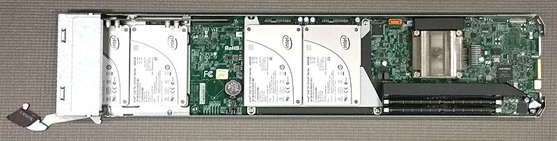 Supermicro MicroBlade Xeon D-1541 storage blade overview