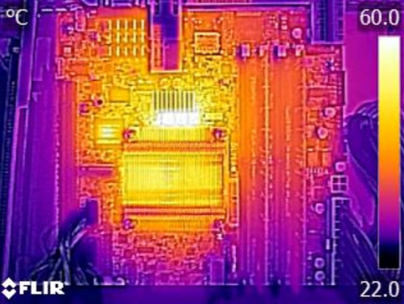 Supermicro X10SDV-2C-TLN2F Thermal Imaging