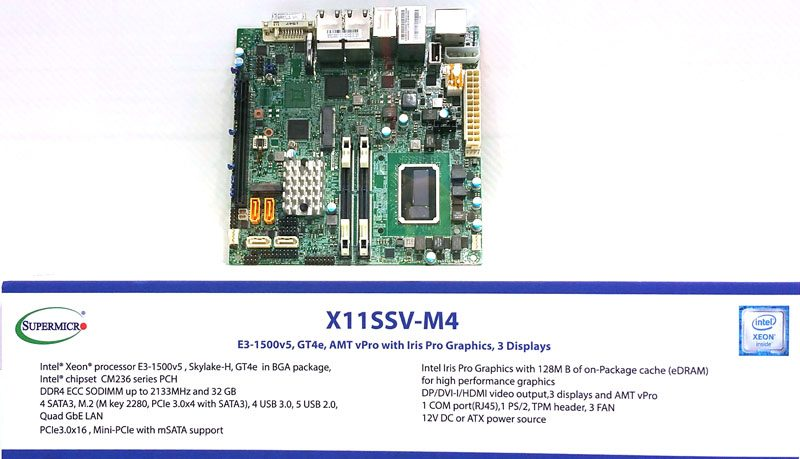 Supermicro - X11SSV-M4 motherboard