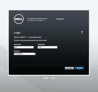 Dell iDRAC 8 - Login