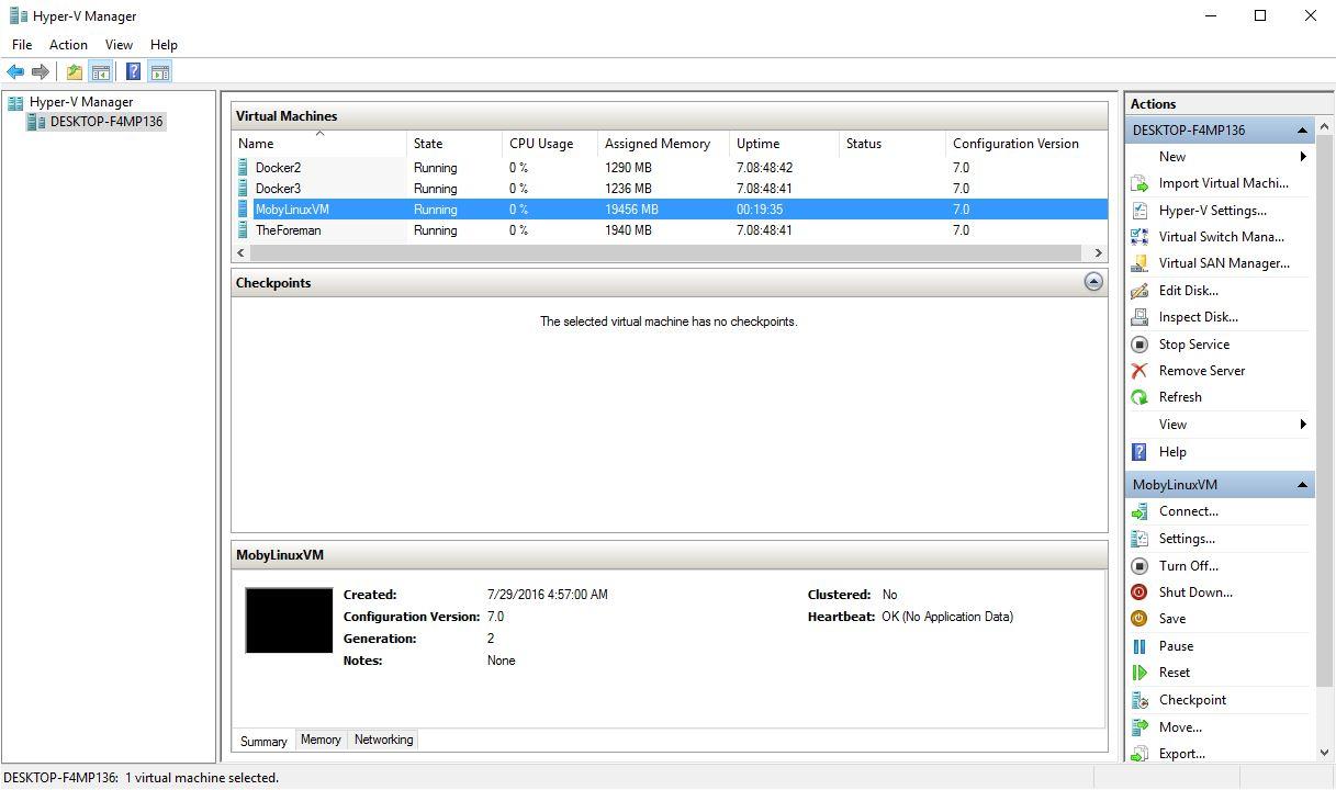 Docker for Windows - Getting a Docker 1 12 Swarm running in