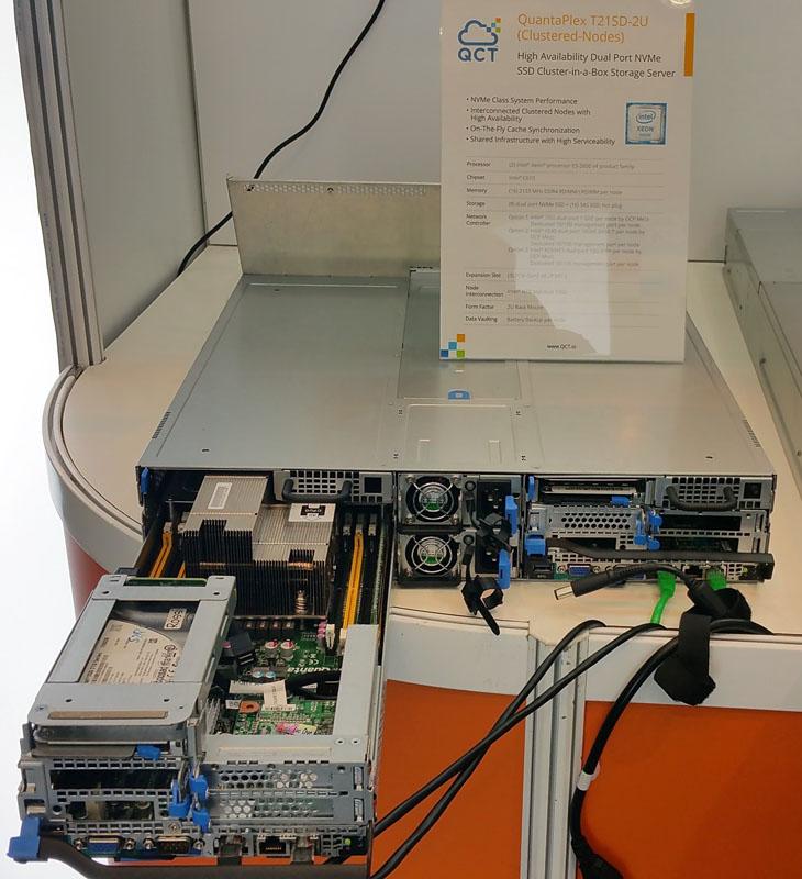 QCT QuantaPlex T21SD-2U HA dual port NVMe system