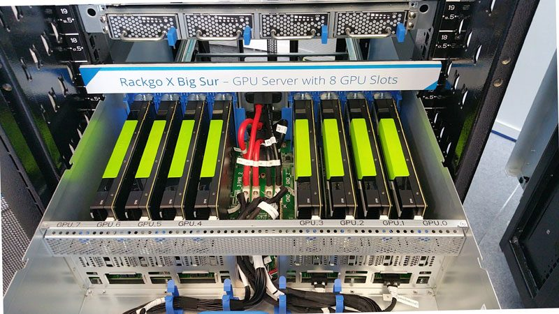 QCT Rackgo X - Big Sur - 8 GPU OpenCompute rack - 8x NVIDIA Tesla M40