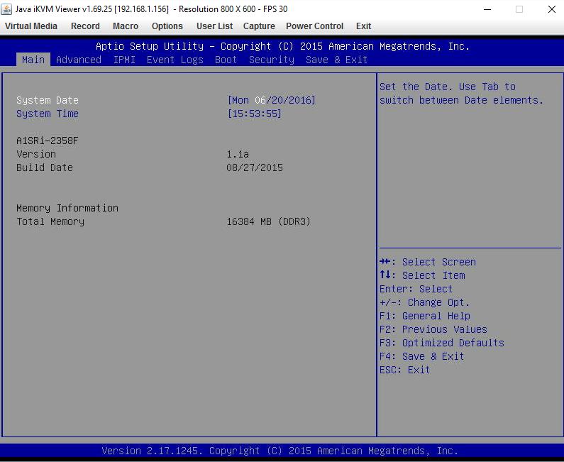 Supermicro A1SRi-2358F BIOS