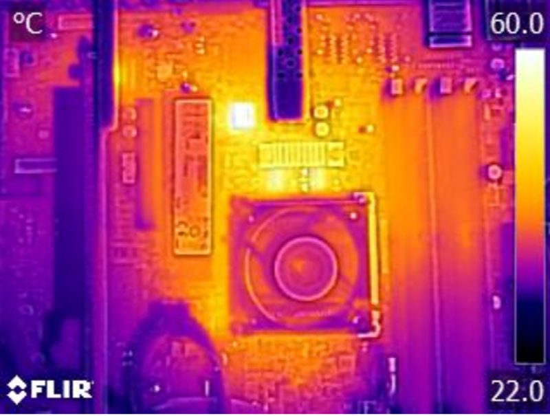 Supermicro X10SDV-4C+-TP4F Thermal Imaging