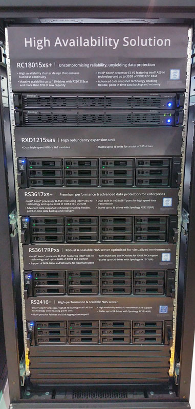 Synology Computex 2016 HA Solution Rack