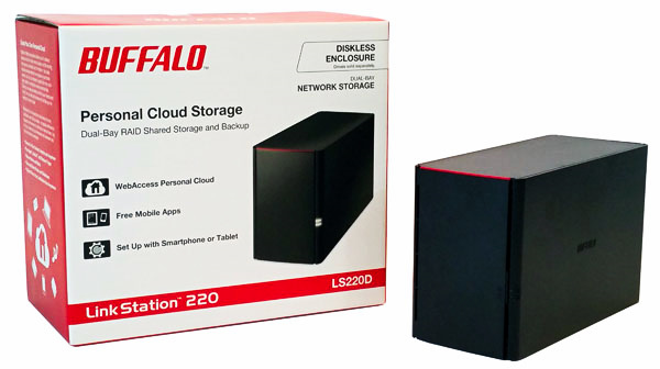 Buffalo LS220D 2 Drive NAS - NAS and Box