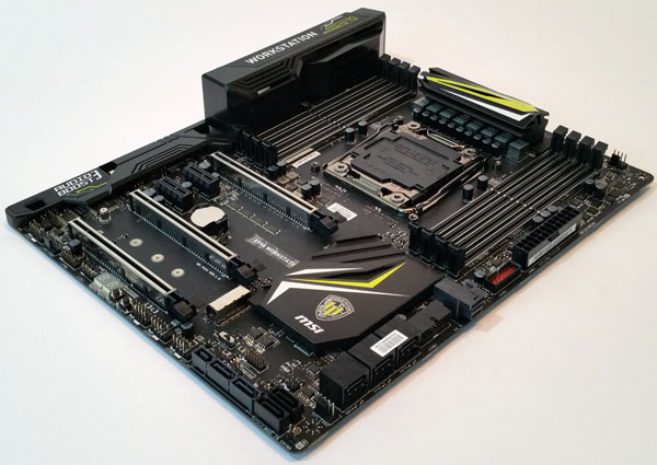 MSI X99A Workstation motherboard - Angle