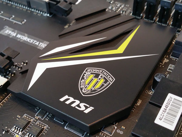 MSI X99A Workstation motherboard - Chipset Heat Sink