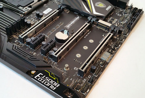 MSI X99A Workstation motherboard - PCIe Slots