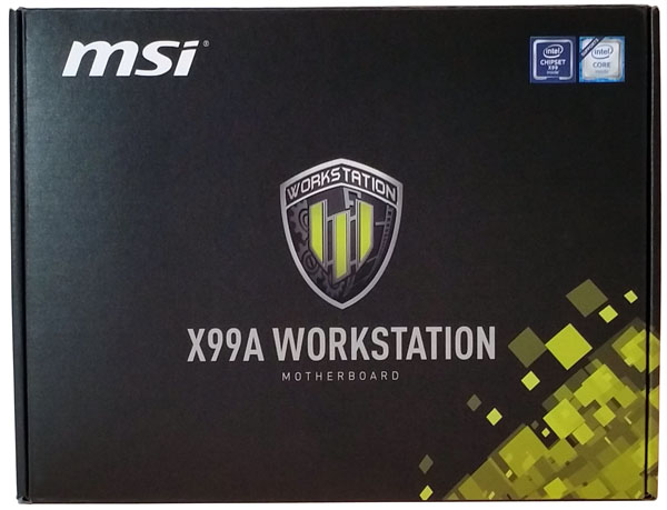 MSI X99A Workstation motherboard - Retail Box Front