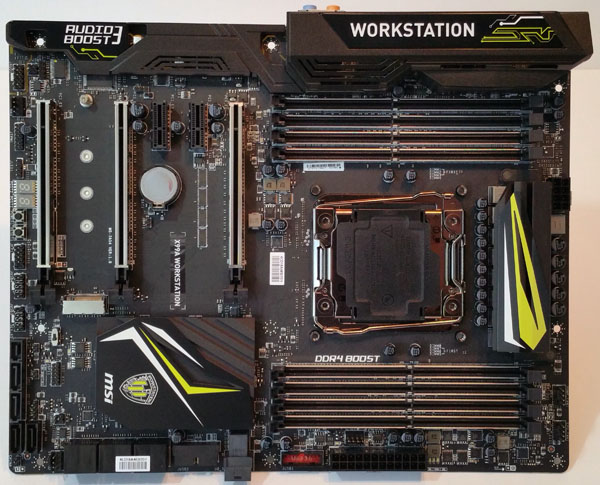 MSI X99A Workstation motherboard - Top