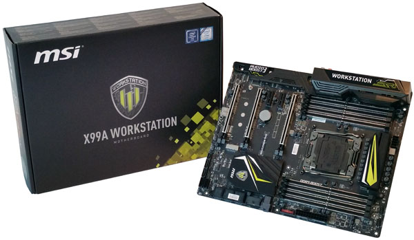 MSI X99A Workstation motherboard