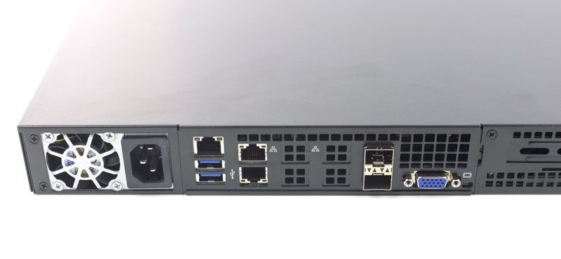 Supermicro SuperServer 5018D-LN4T Rear IO