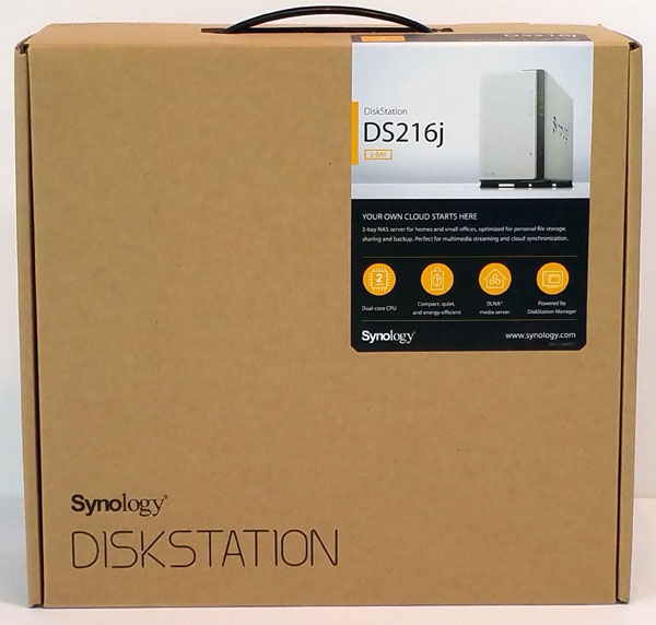 Synology DS216j - Retail Box Front