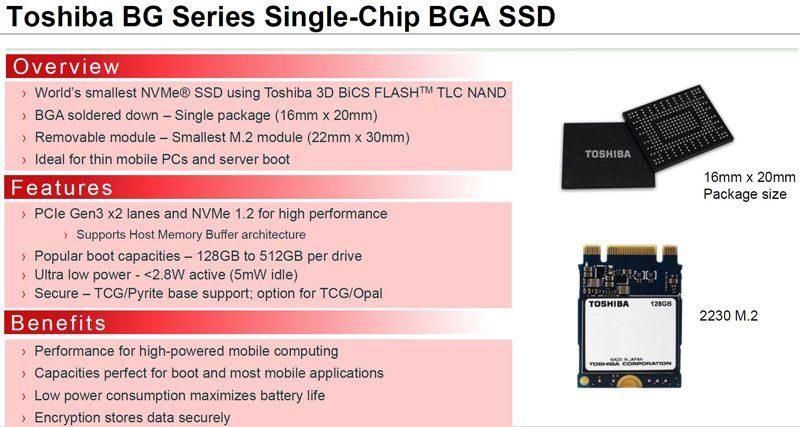 Toshiba BG Series Overview