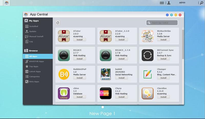 Asustor AS1002T App Central