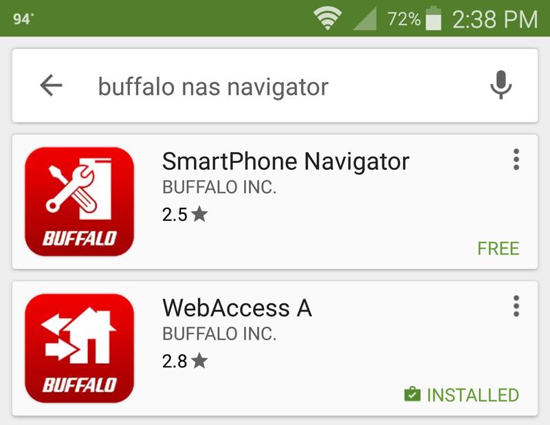 Buffalo LS421DE Android