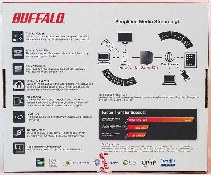 Buffalo LS421DE 2-Bay NAS Review