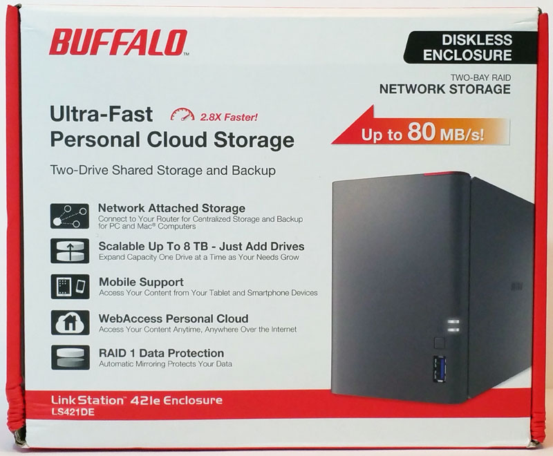 Buffalo LS421DE Retail Box Front