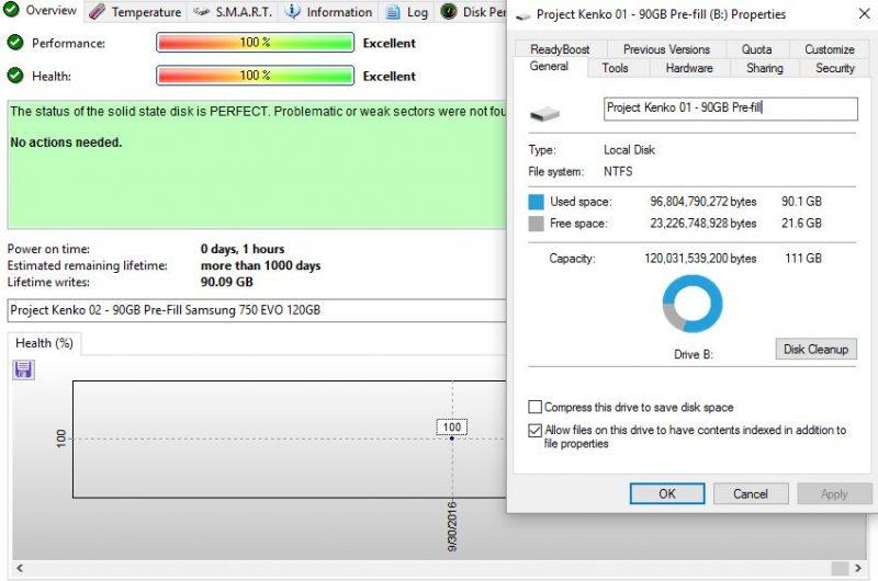 Project Kenko 01 90GB Pre Fill Image 90GB Written