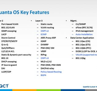 Quanta OS Key Features August-September 2016