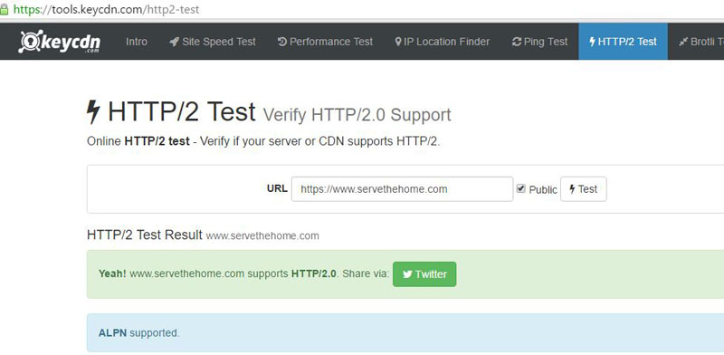 STH Main Site 2016 HTTP2 Validation