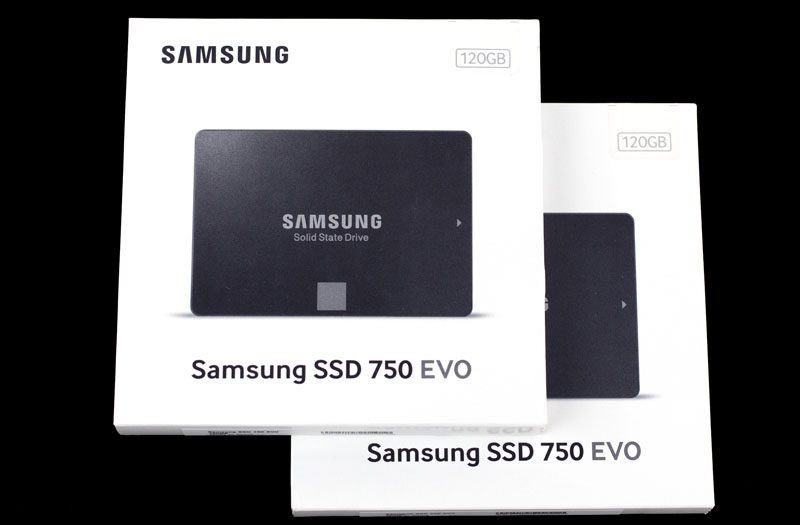Samsung 750 EVO 120GB Retail Boxes
