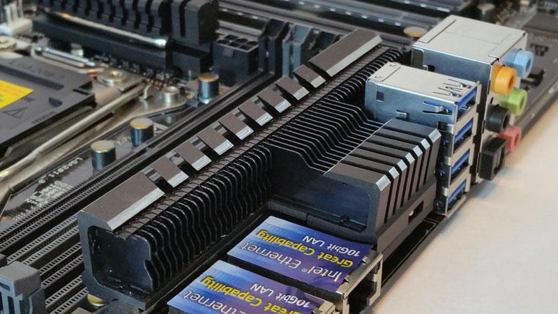ASUS X99 E 10G WS Workstation Motherboard 10G Heat Sink
