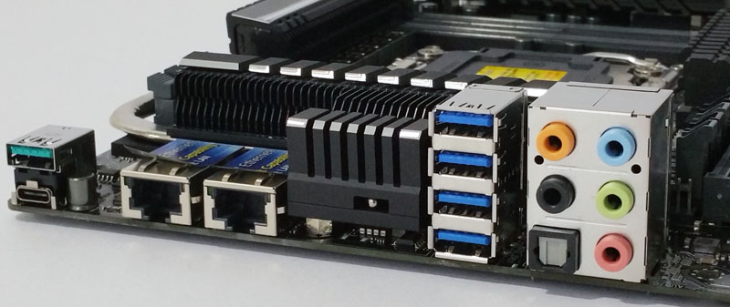 ASUS X99 E 10G WS Workstation Motherboard Back IO Ports - ServeTheHome